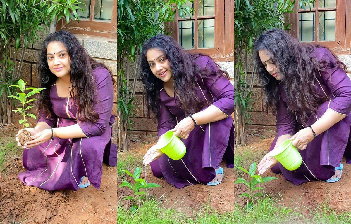Go Green 🌿 #GreenIndiaChallenge    further nominated #Venkatesh @KicchaSudeep #ManjuWarrier and #KeerthySuresh  #meena #annaatthe #drishyam2 #rajinikanth #mohanlal #nayanthara #simran #jyothika #sneha #மீனா
