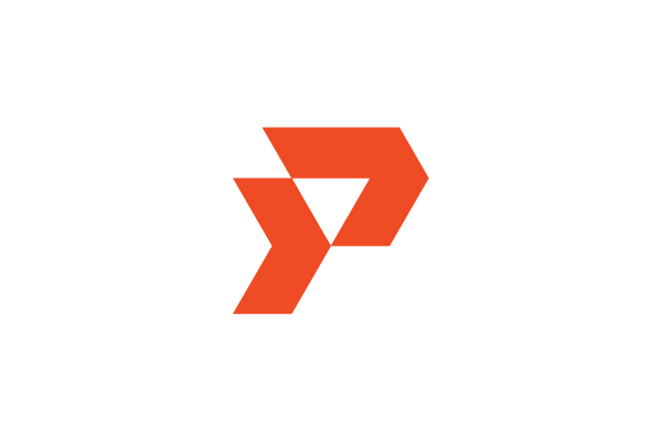 Letter P Forward Logo for sale   #Modern #simple #unique #ready #made #lettermark #design #technology #movement #agile #dynamic #quick #fast #target #ambitious #aspire #solid #professional #capital #ventures #investments #wealth #management #business