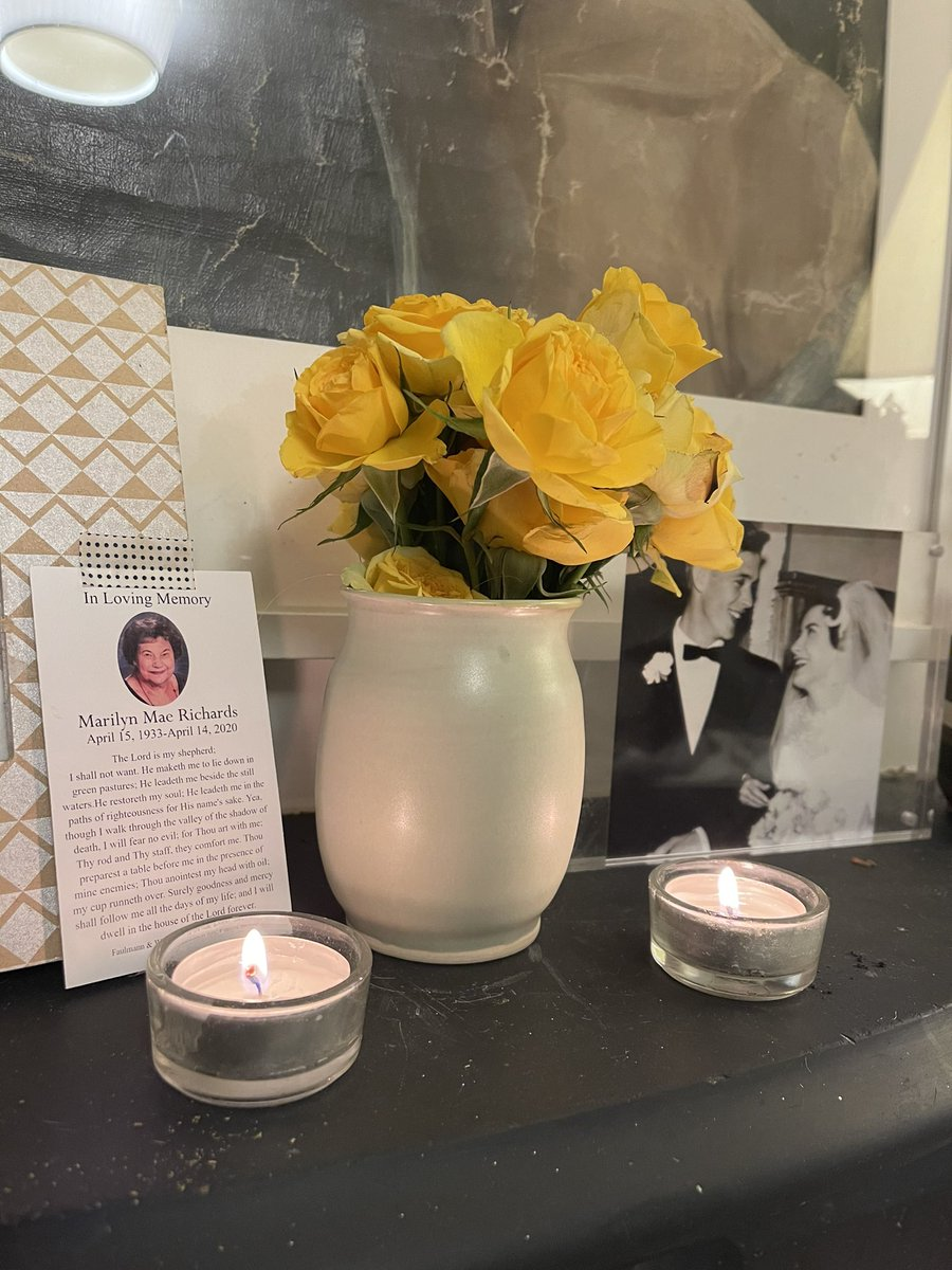 This afternoon, we cheered for parents and grandparents vaccinated.  This evening, we lit candles for two lives lost during #COVIDMemorial.  What a juxtaposition on this #Inauguration eve.
