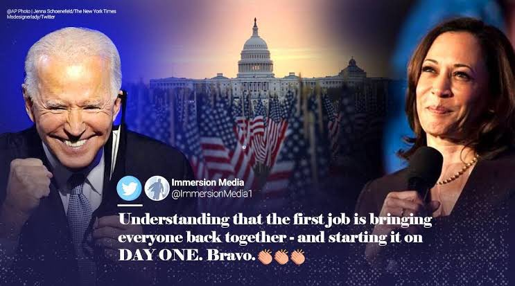 The new day the new dawn ! Welcome our new 46th President and VP!! So proud to be an American 🇺🇸🇺🇸🇺🇸 Finally the bigots are driven out of DC 👏👏 #TrumpsLastDay #BidenHarrisInauguration #BidenHarris