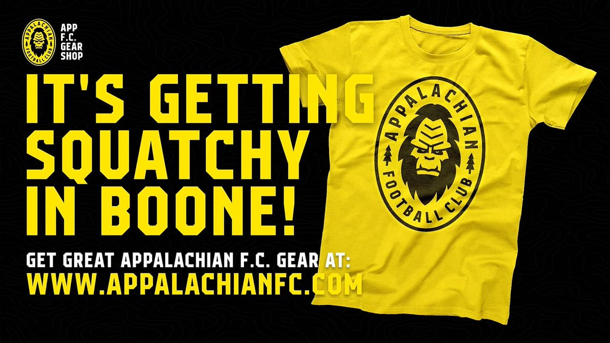 Starting Midnight Tonight: As a token of our appreciation for all of your amazing support, the BIG MAN has agreed to a 20% Off Sale for all Appalachian FC gear on Jan 20th. Midnight to Midnight. One day only. Use Promo Code 2020 at Check Out to Save 20% at https://t.co/N2VLEFX0Jo https://t.co/fxn7AYPRHZ