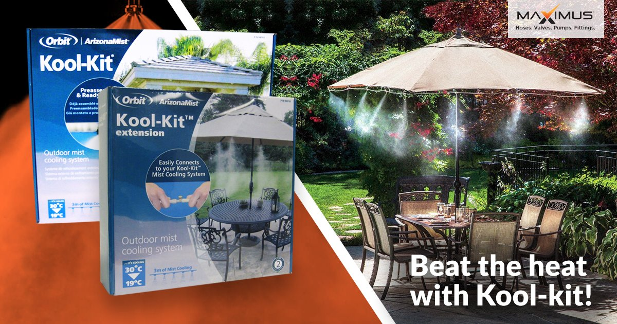 This #summer take a 5% discount when you purchase your @OrbitLawnGarden #Arizonamist kit from your @MaximusIndustr1 Rutherford website at   Use this code MXTWMIST21 to get a 5% discount.   Hurry! Get your #Mistingkit today.