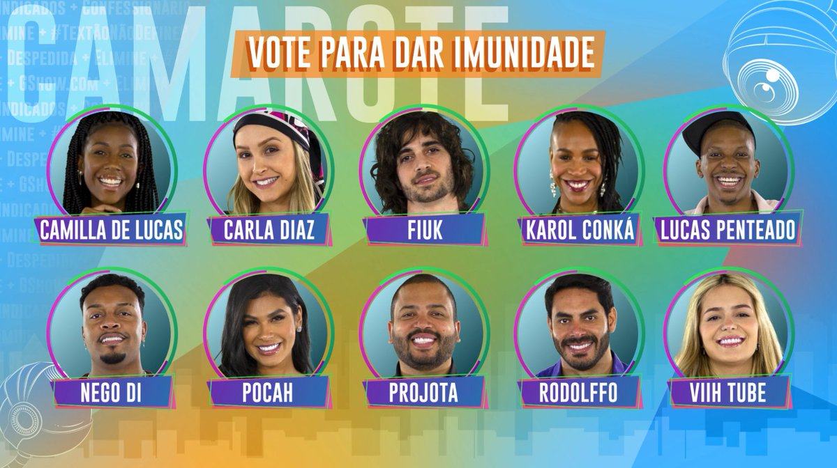 Replying to @bbb: CAMAROTE: Vote para dar imunidade ✨   →→  ←← #RedeBBB #BBB21