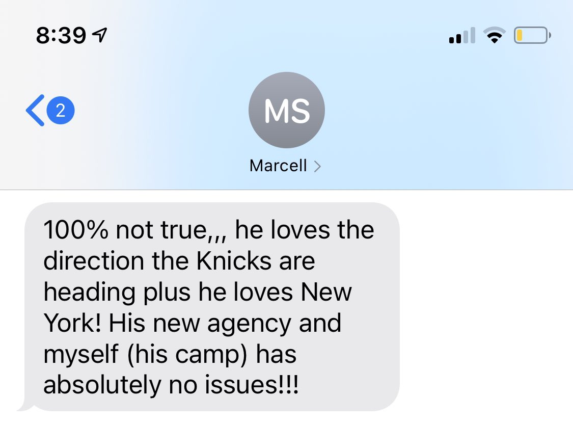 Mitchell Robinson's trainer just texted me there's no truth to this. https://t.co/61egGLxOCv https://t.co/7sjkZCr76F