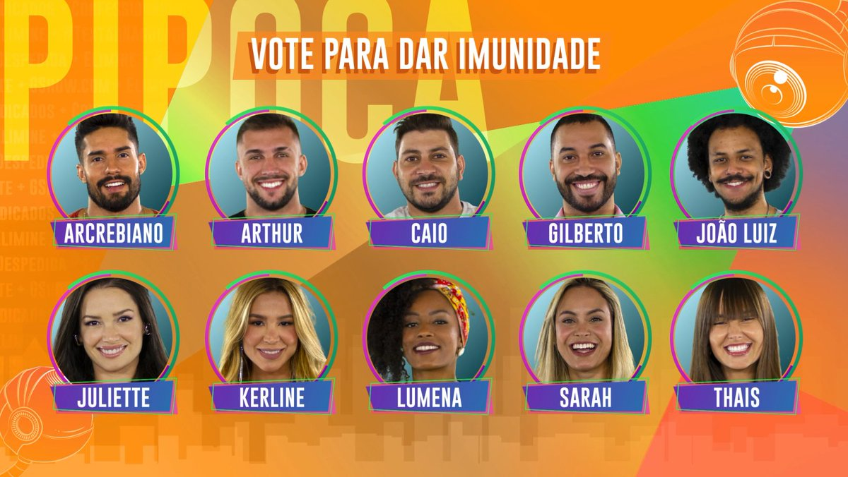 PIPOCA: Vote para dar imunidade ✨   →→  ←← #RedeBBB #BBB21