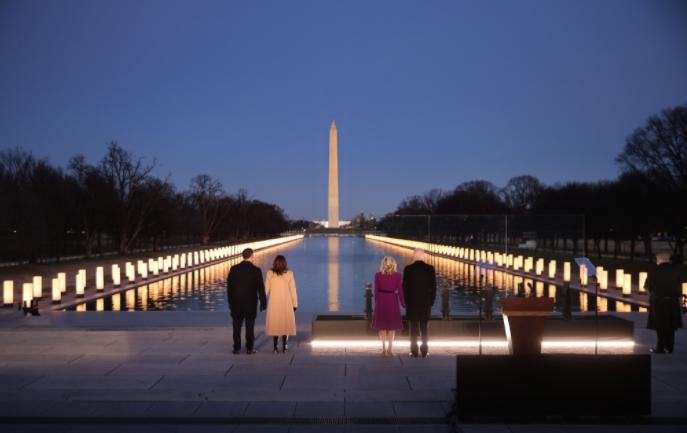 #بايدن يحيي في #واشنطن ذكرى 400 ألف أميركي حصد أرواحهم #كورونا