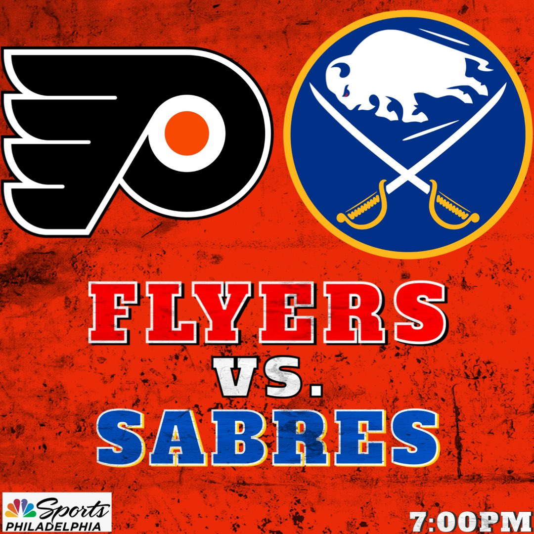 The Flyers look to bounce back against Buffalo tonight after last night's beating 👊🏻  #5MM✖️#AnytimeAnywhere
