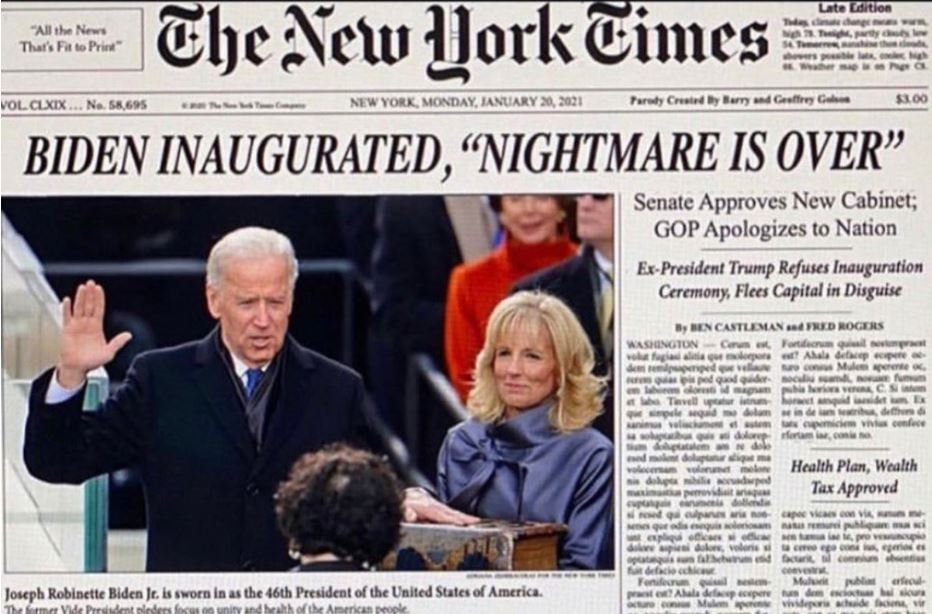 Can you believe it, tomorrow this is real Thanks to everyone, resisting and never giving up #ByeByeTrump  #BidenHarris