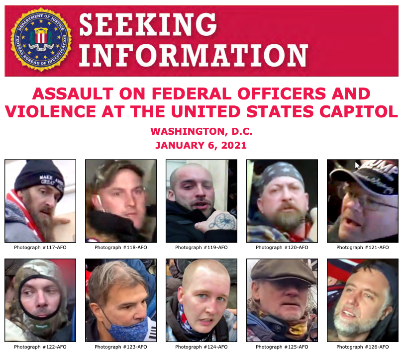 The #FBI needs you to help identify individuals who unlawfully entered the U.S. Capitol and assaulted law enforcement officers on January 6. Visit  to see a new poster with more people. If you recognize someone, submit a tip at .