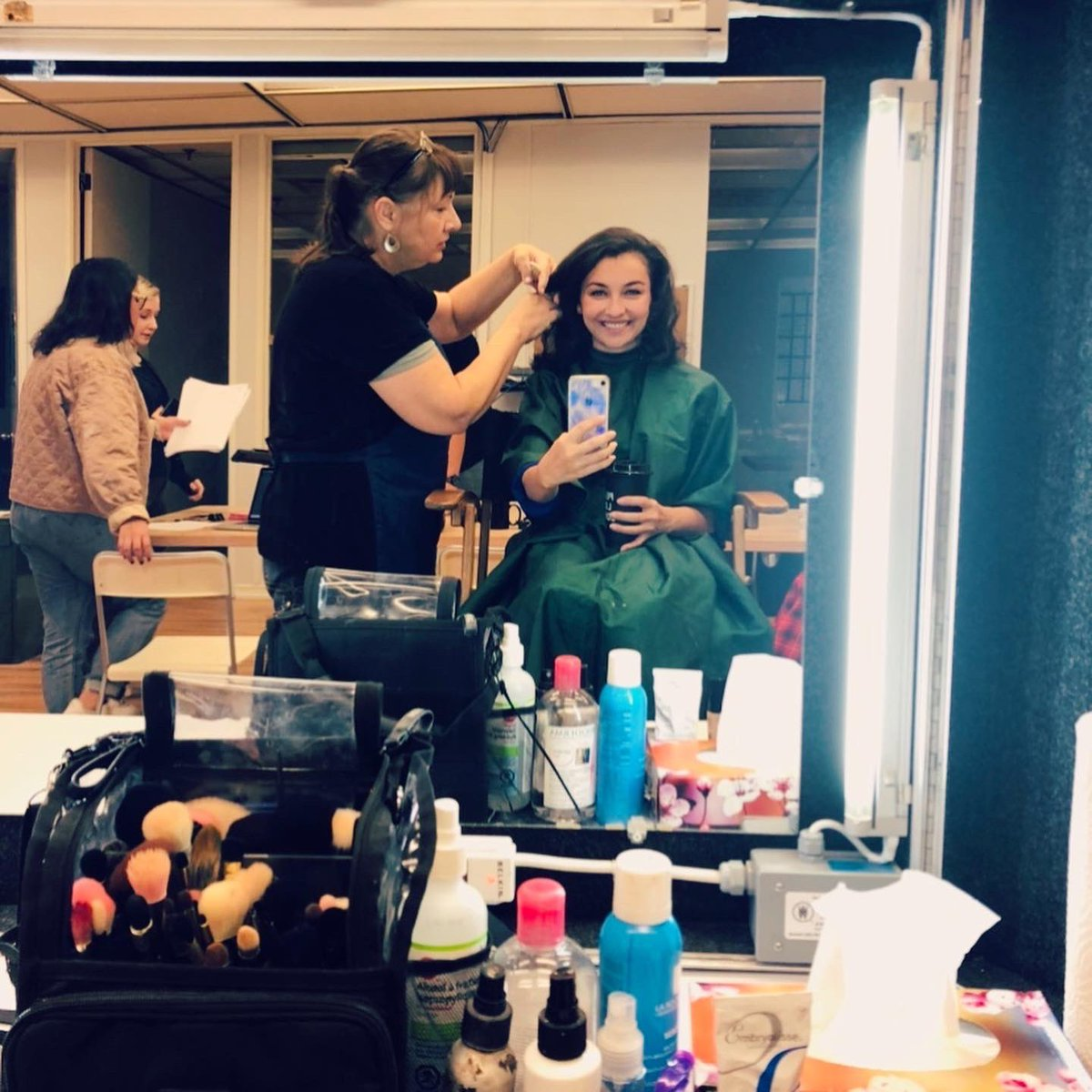 Coffee & Curlz🌀 #Throwback to my hair and makeup test for LEARNING TO LOVE AGAIN, now playing on @Roku  in the US & UK🎉💥💥💥💥👇🏻  #LearningToLoveAgain #PepLife #Reign