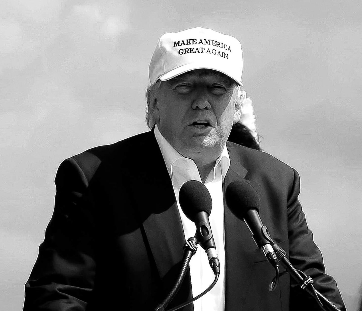 """Just before I took this photograph of Donald Trump in 2016 (day after Brexit vote) a press photographer standing next to me said, loudly, """"I wish I was holding an elephant gun instead of this camera."""" #ByeByeTrump"""