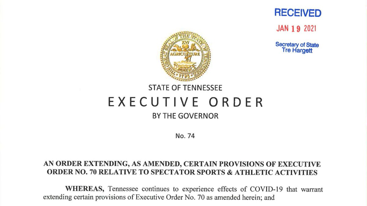 Executive Order No. 74 from @GovBillLee can be found here: https://t.co/3K9oBc5d9r. https://t.co/JzqzLOVQ3N