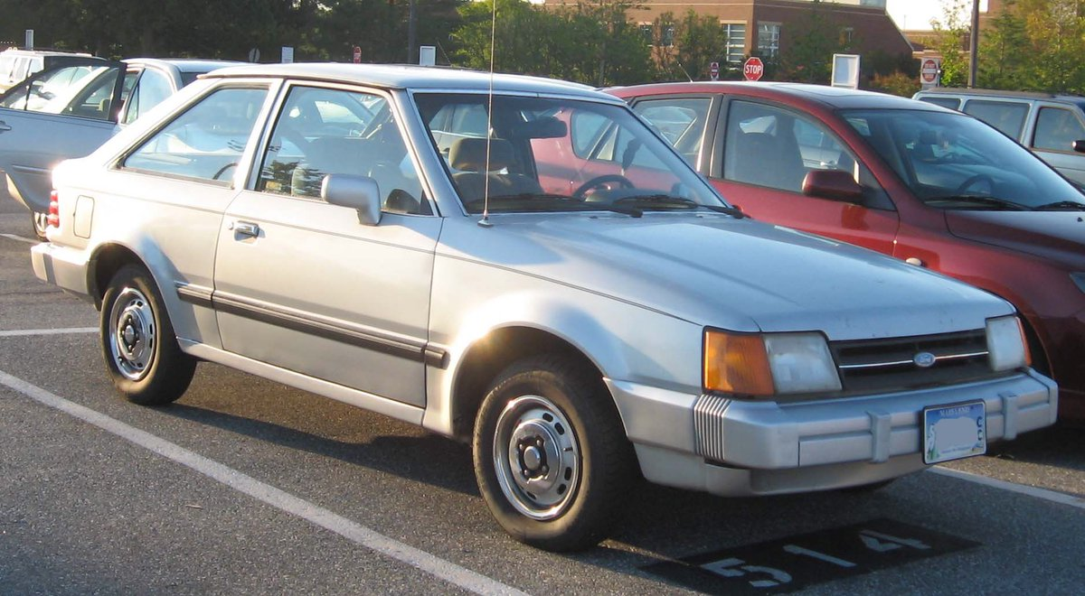 #MyWorstCar The gray Ford Escort I got my senior year of college. It was hideous, the radiator was always leaking, and Brian Keene threw up in the back of it after a Phi Gamma Delta party.