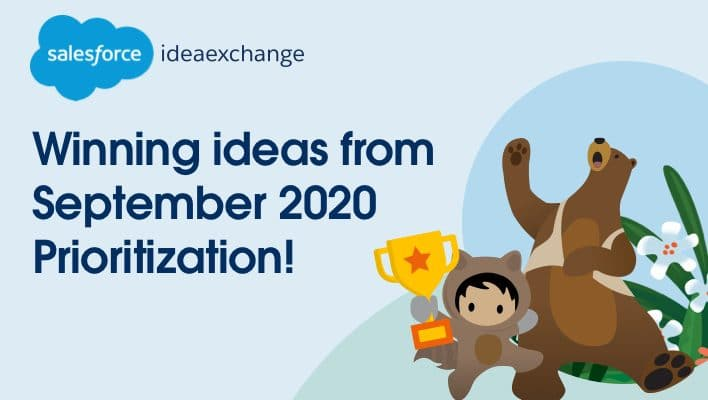 Last September, more than 8,000 of you told us which ideas from the #IdeaExchange were your favorites. On the blog today, take a look at the 3 winning ideas you'll see delivered in future releases.  ✅→
