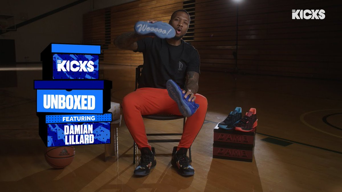 .@Dame_Lillard unboxing his @RicFlairNatrBoy collaboration with Adidas on Unboxed  Full episode https://t.co/TWWIz36Y7z https://t.co/D92Wup3DJc