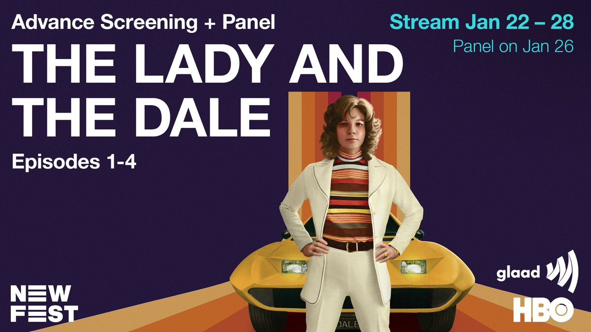Watch all 4 episodes of @HBO's new docuseries #TheLadyAndTheDale with us starting 1/22, before it premieres!  Then tune in for our Q&A with the creators on 1/26 at 8pm ET 🚘  Info + free RSVP: