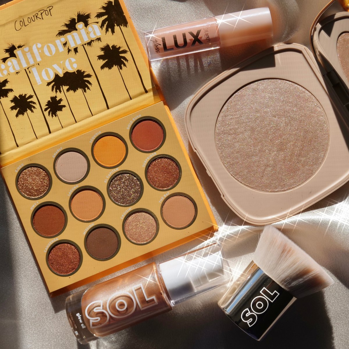 Colourpop Crush is back ☀️ Inspired by the california sun + glowing warm weather!   Check out the @LianeV  Cali Glow collection available now!   📸:makeup2themaxx