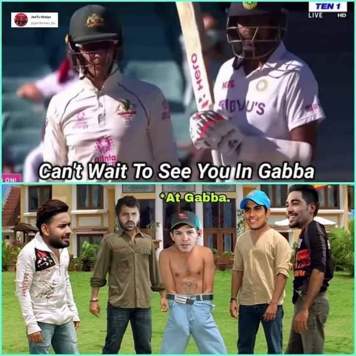 Now who did this? @tdpaine36 #sorrynotsorry 😅 #GabbaTest #INDvsAUS #HistoricWin