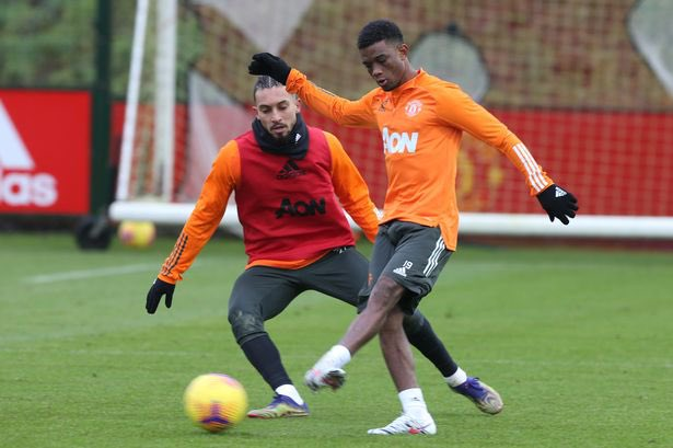 """Solskjaer on Diallo: """"He can handle the ball, he's enjoyed training and he makes a difference in training, which is quite remarkable at his age."""" #MUFC"""