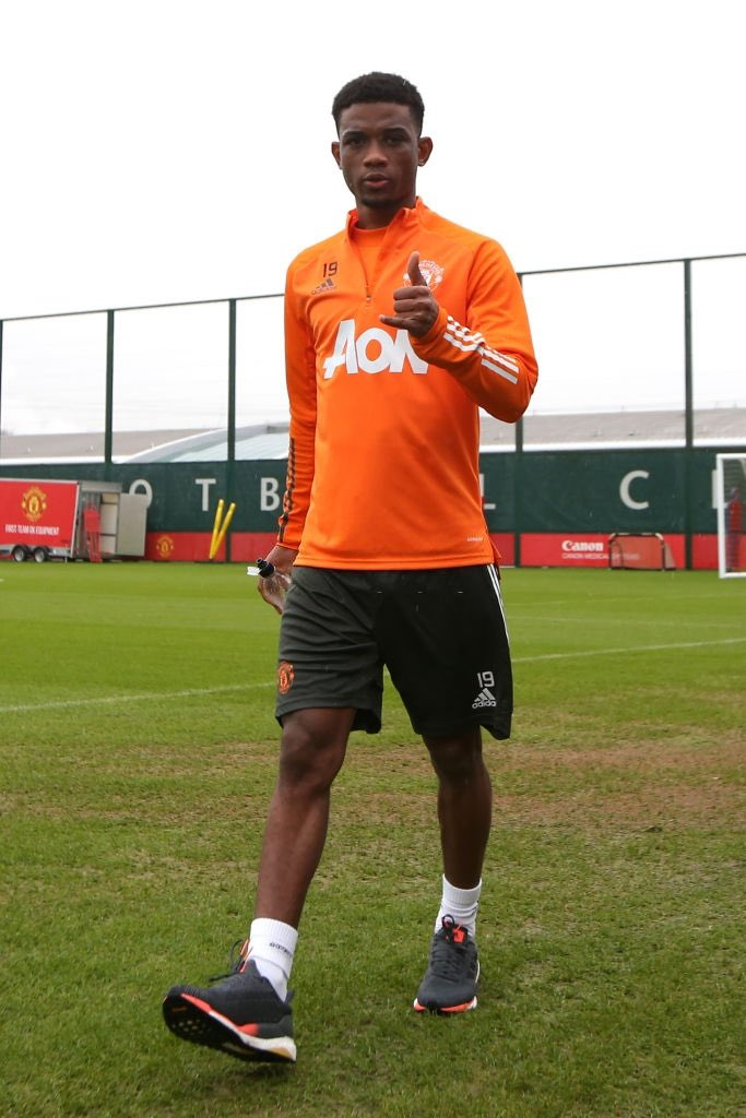 """Solskjaer on Amad Diallo: """"The players have taken to him, he's a good character, polite, smiley boy who works really hard. He's doing his sessions and getting used to us. There's always a period of adjustment needed but he's settling in well."""" #MUFC"""