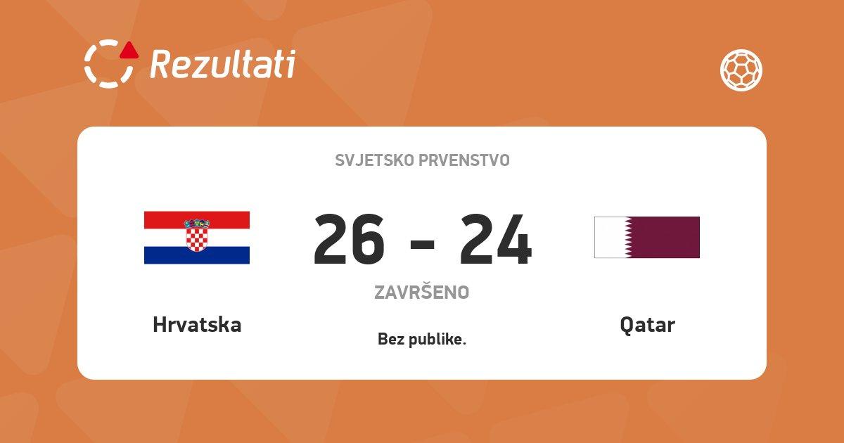 🤾♂️ Hrvatska je večeras pobijedila Katar i osvojila prvo mjesto u svojoj grupi! 👏  #WorldCup #Croatia #handball #Hrvatska #rukomet @HRStwitt https://t.co/gzpZ40Y6Px