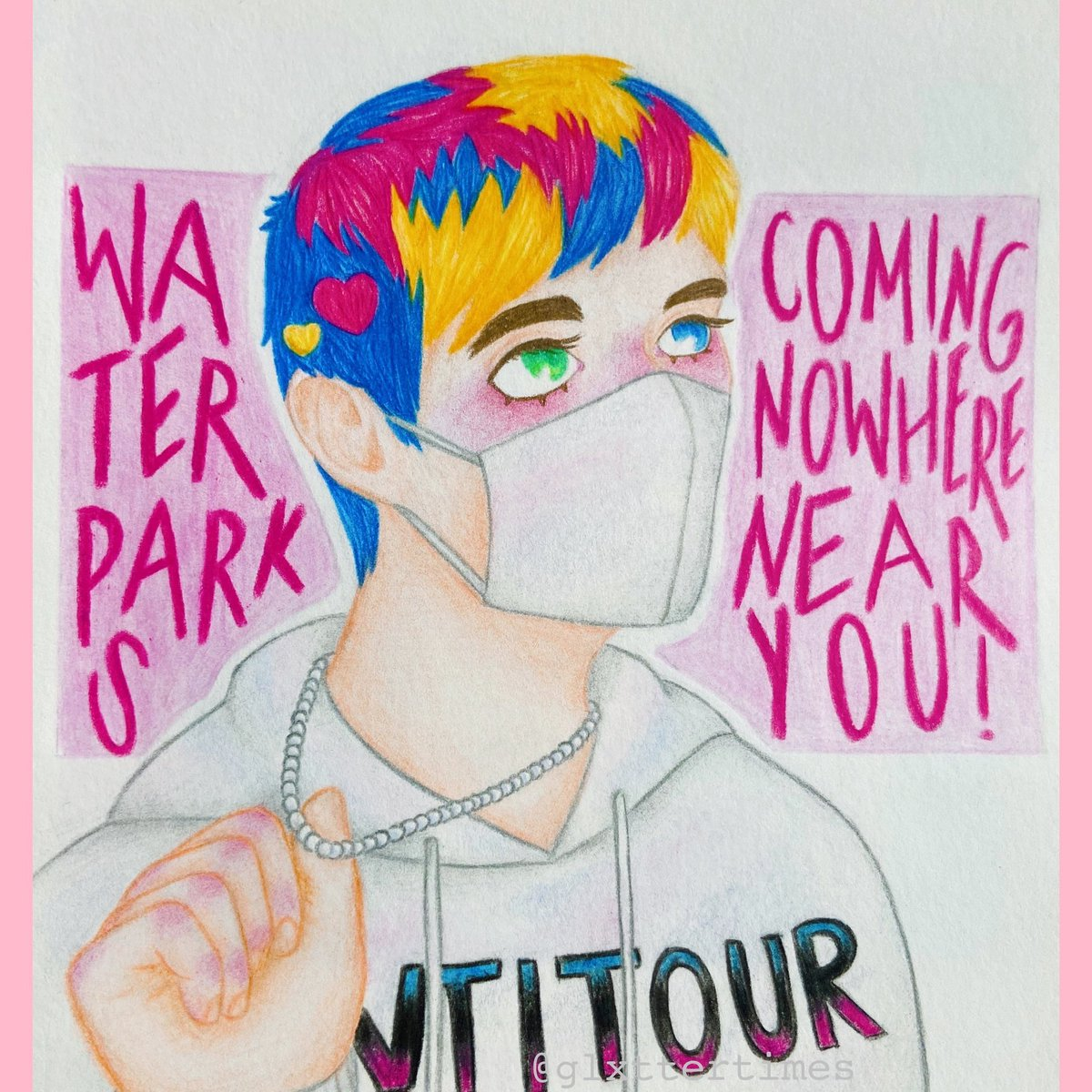 ✨💗🧲💗✨ - this is for a dtiys on insta that i participated in!💕 - @awsten @waterparks #awstenknight #waterparks #parx #lowkeyashell #art #dtiys