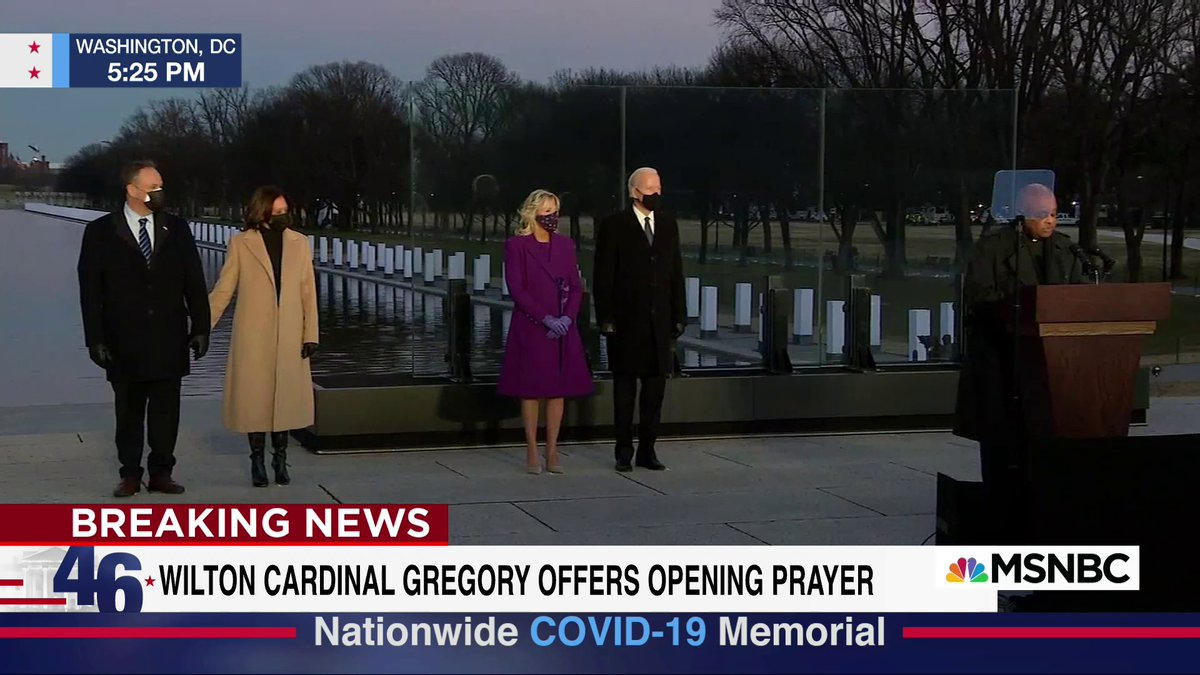 Live on @MSNBC:  President-elect Biden and Vice President-elect Harris participate in a memorial to remember Covid-19 victims