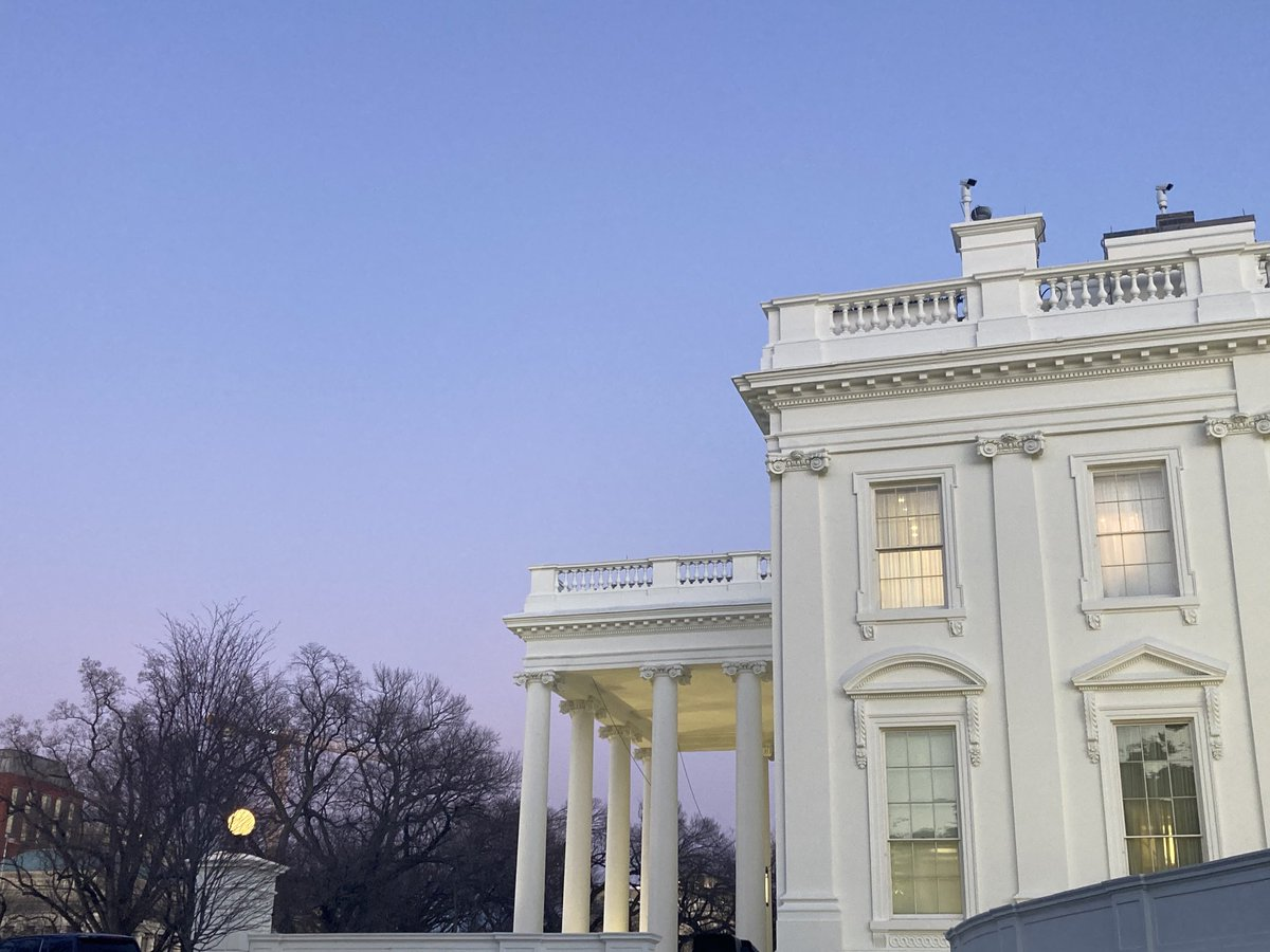 Replying to @JonLemire: The sun sets for the final time on President Donald Trump's White House