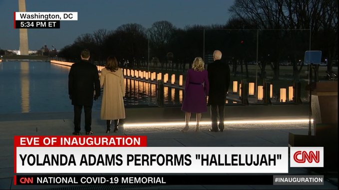 In a moving tribute, Biden and Harris take time to remember the 400,000 lives lost in the U.S. to COVID-19.