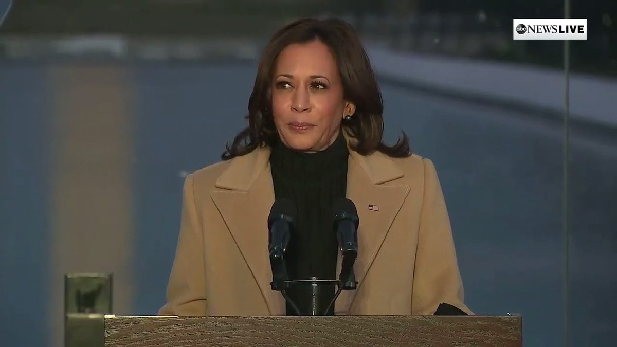 """Vice President -elect Kamala Harris at lighting ceremony memorializing those lost to #COVID__19 pandemic: """"For many months, we have grieved by ourselves. Tonight we grieve — and begin healing — together.""""  #Inauguration Eve #COVIDMemorial"""