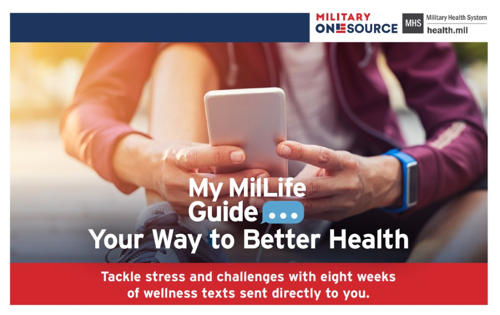 My MilLife is a text-based program that delivers the expertise of the @MilitaryHealth System, @Military1Source and other government agencies to your mobile device.  See #thread for more details.  #Resiliency #OurArmyOhana #MoveToHealth #M2H #HealthyArmyCommunities