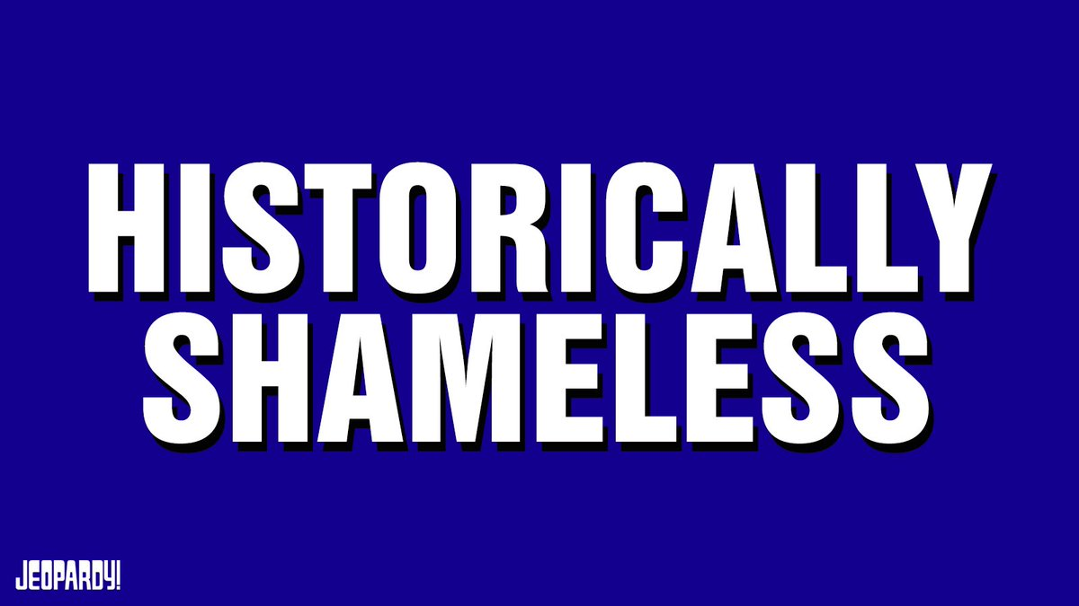 "Replying to @WilliamHMacy: Tune in tonight to @Jeopardy ! I'll be reading clues for the ""HISTORICALLY SHAMELESS"" category."