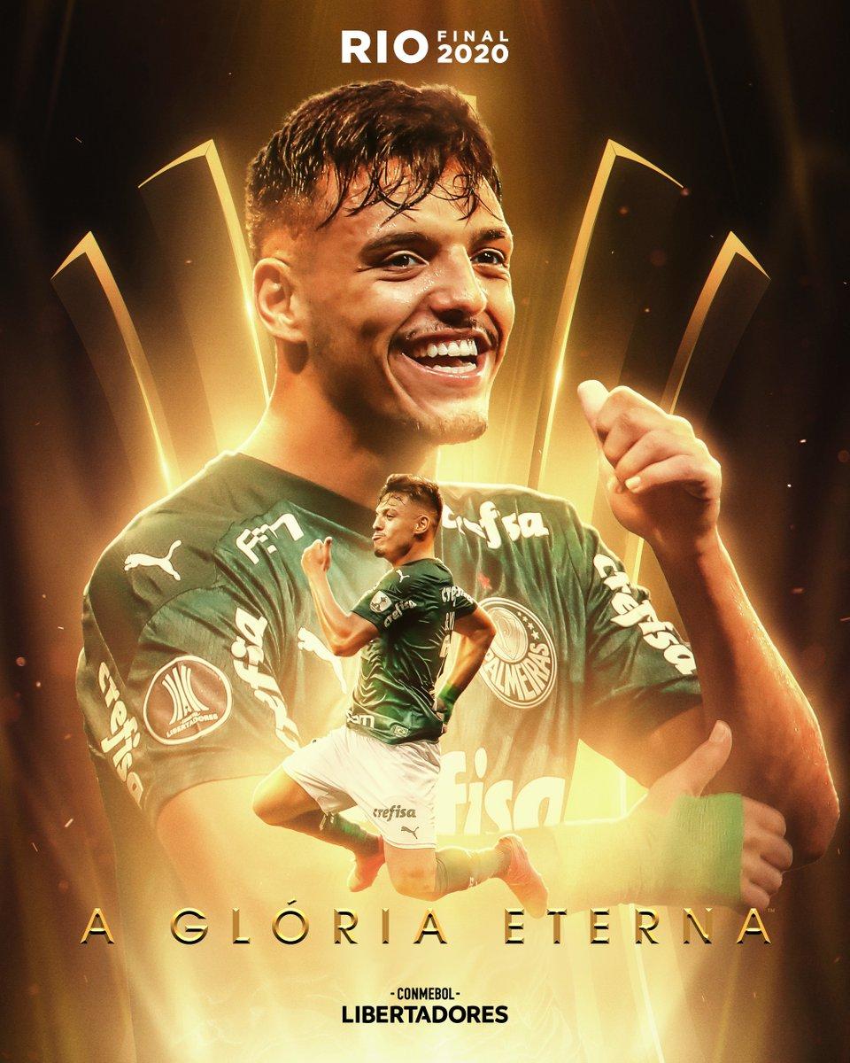 😍🇳🇬 @gabrielmenino00 só cresce!  🐷 Um finalista em sua primeira CONMEBOL #Libertadores, no seu primeiro ano como profissional com a camisa do @Palmeiras.   🏆 Hoje com 2⃣0⃣ anos, ele não tinha nascido no título de 1999. Atleta de @CBF_Futebol em busca da @GloriaEterna!