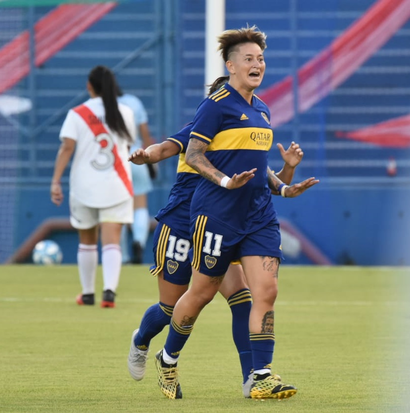 #SuperFinalSuperClásica 🏆  ¡Final de la primera parte! Con los tantos de Huber, Rodríguez, Benítez, Vallejos y Ojeda, Boca derrota 5-0 a River.