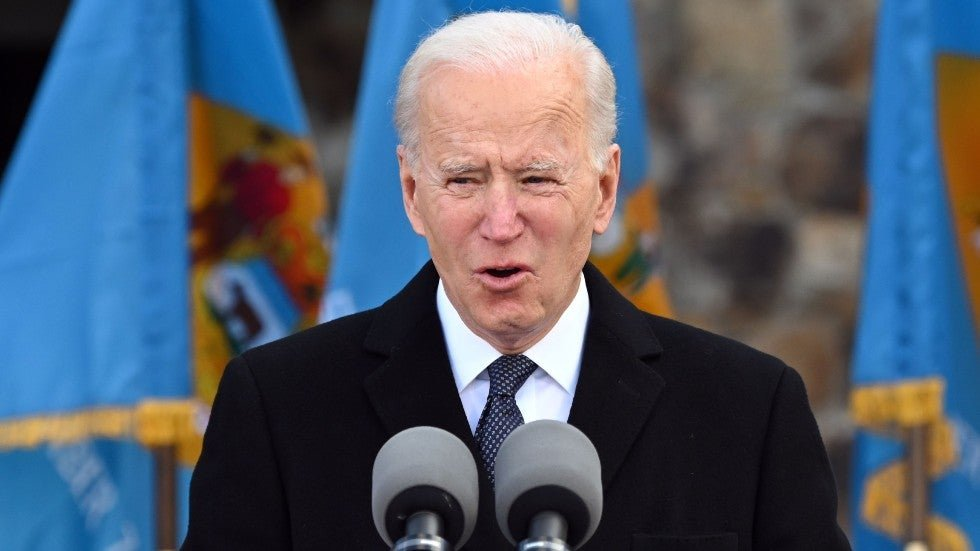 Biden gets emotional during Delaware departure ceremony for inauguration