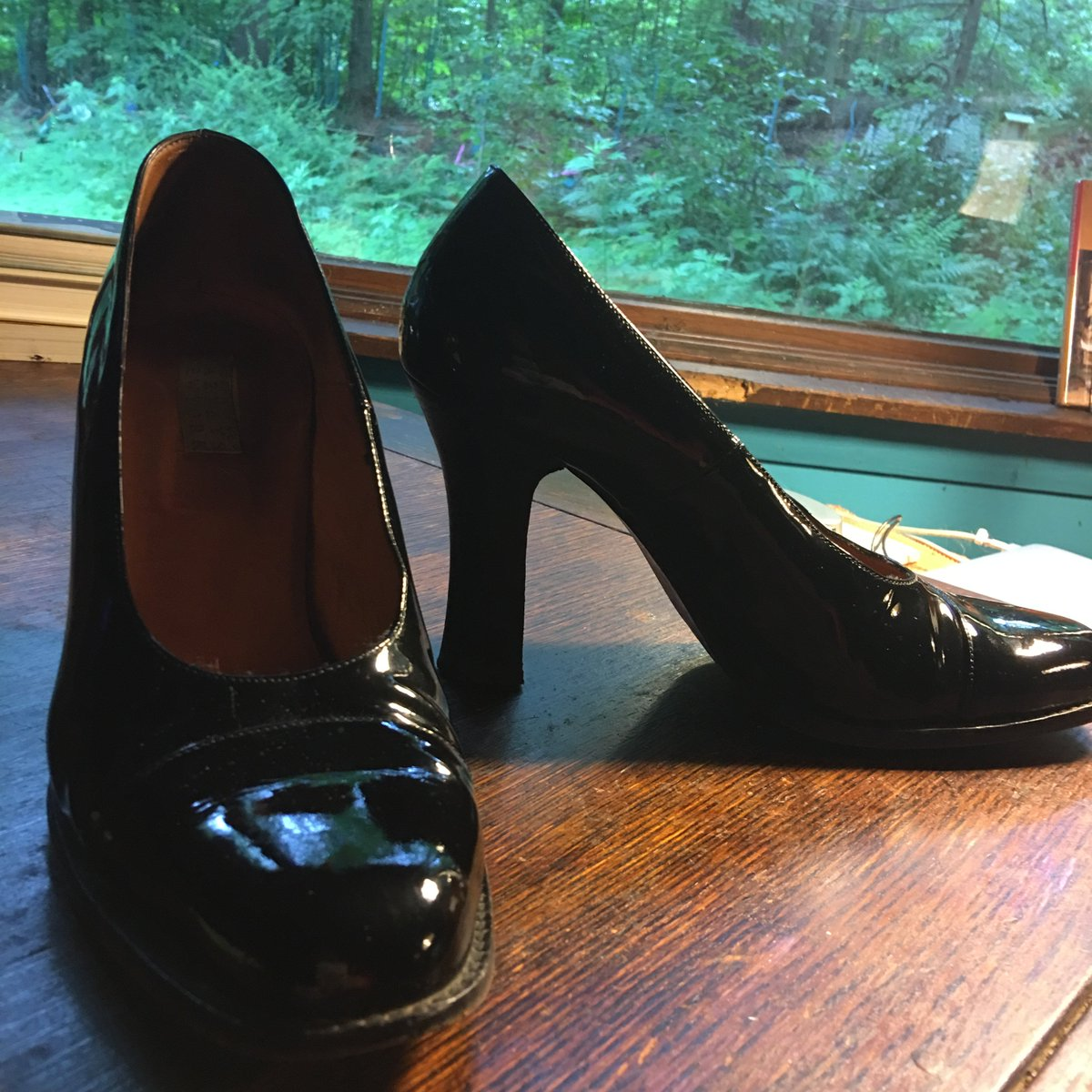 """These are the shoes I was wearing when Trump attacked me.  They are 27 years old. The label is """"Barney's New York.""""  I am walking on air today because tomorrow Trump will be gone."""