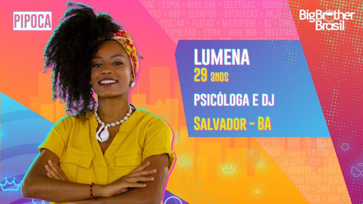 #BBB21 O grupo #Pipoca ganhou a psicóloga e DJ #LUMENA. O que achou?