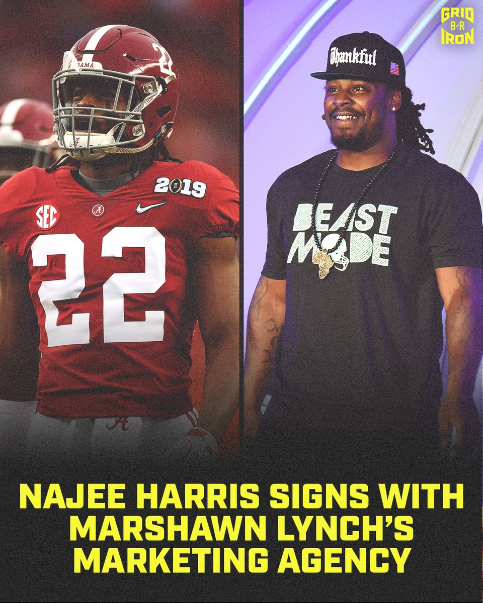 Bay Area native Najee Harris announces he's signing with Marshawn Lynch's Beast Mode marketing agency 💯 @brgridiron