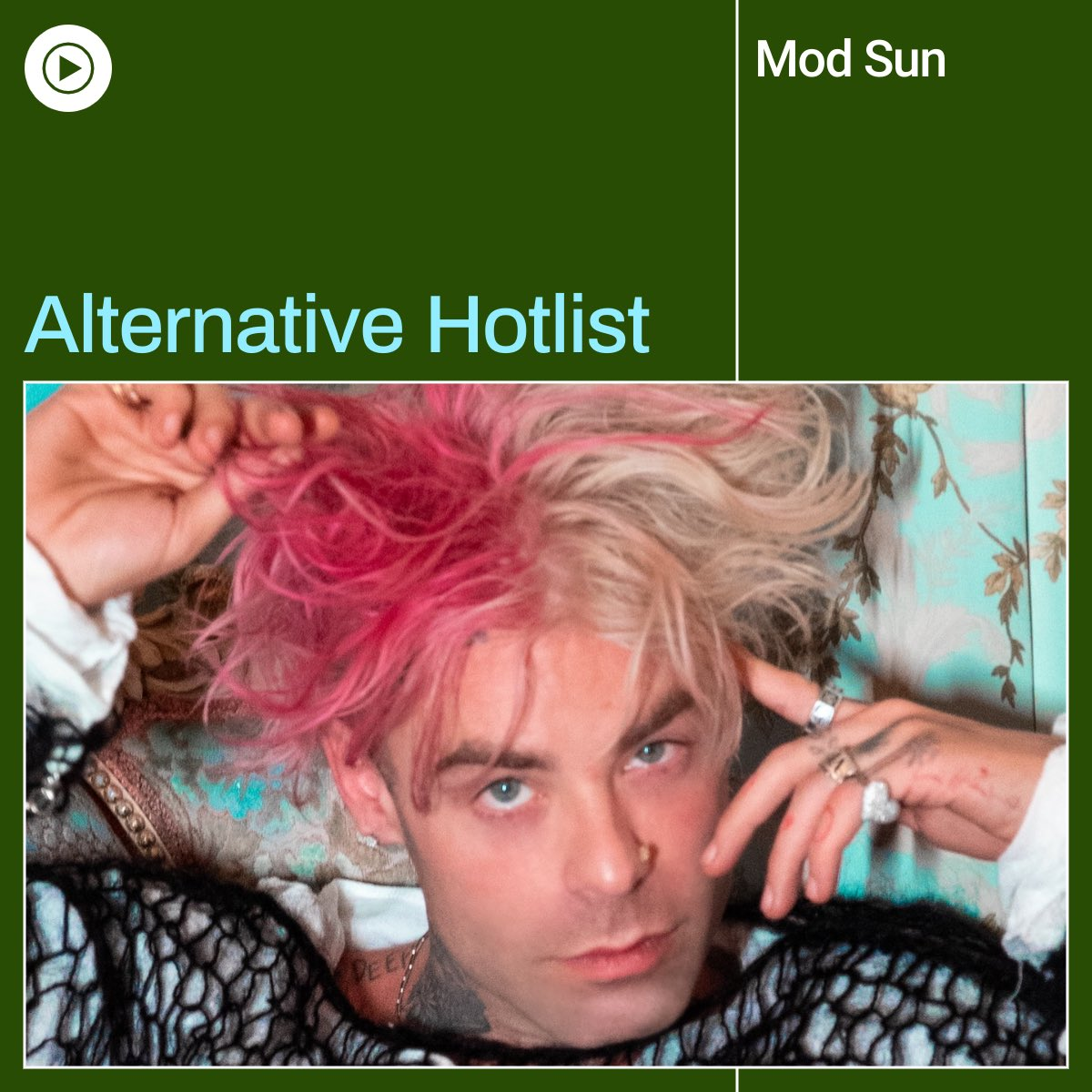 "Watch coverstar @MODSUN music video for ""Bones"" on @youtubemusic's Alternative Hotlist playlist which features the best songs of the moment in the alternative music scene:"