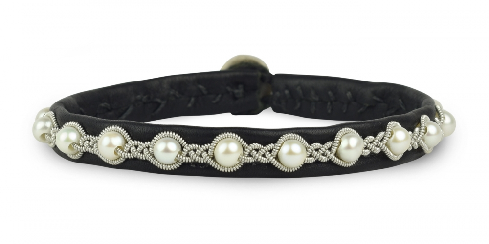 #precious Handcrafted bracelet with freshwater pearls 0,7 cm SP015  Get your Piece of Luxury