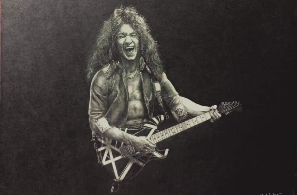 Amazing drawings of Van Halen from a very talented artist Mr Edward Lee Studebaker. Thanks for these‼️  #eddievanhalen #evh #vanhalen #guitarsolo #guitarshredder #rocknews #music #genius #art #drawings #DLR #davidleeroth #alexvanhalen #michaelanthony