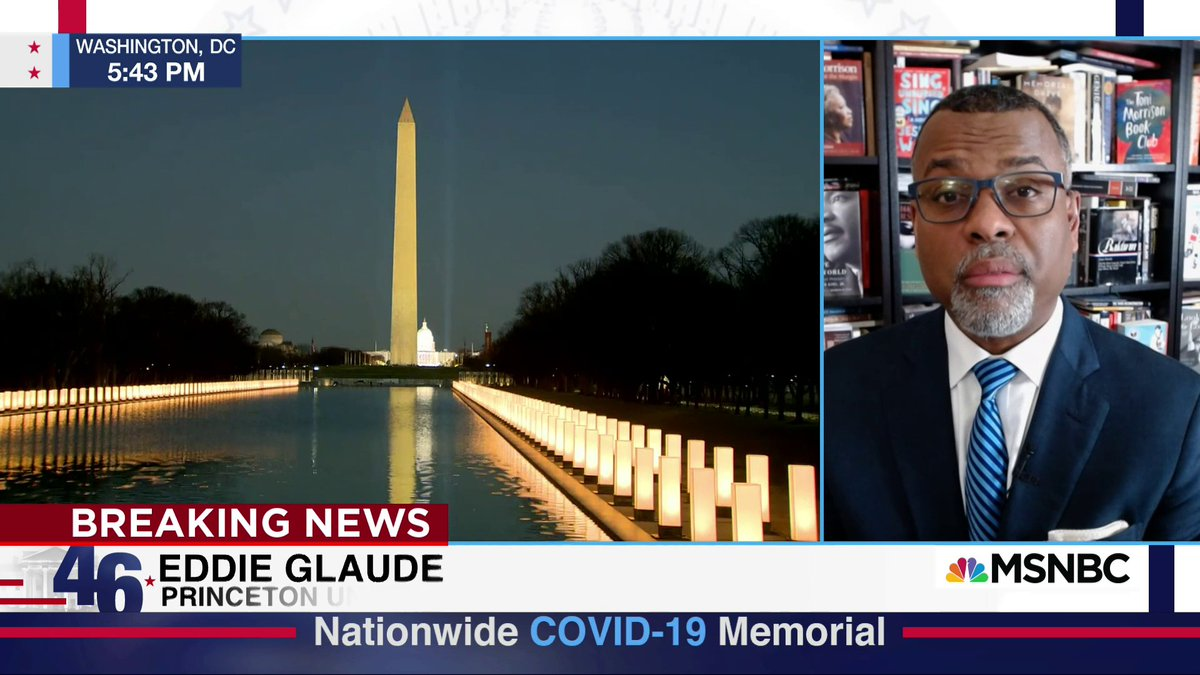 """""""I'm thinking of Charlie""""  @esglaude grows emotional while discussing Covid-19 memorial service, remembering friend who died from coronavirus."""
