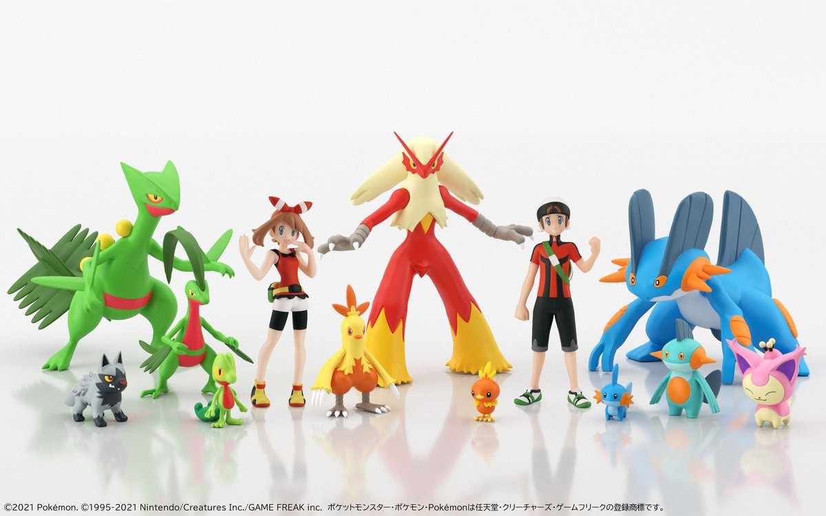 Pokeshopper News : New Pokémon Bandai Scale World figurines of Hoenn confirmed to release. Details being added @
