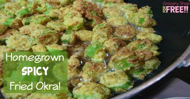 Homegrown Spicy Fried Okra!  Click here --->  #family #debtfreegoals #debtfreecommunity #moneymatters #savingplan