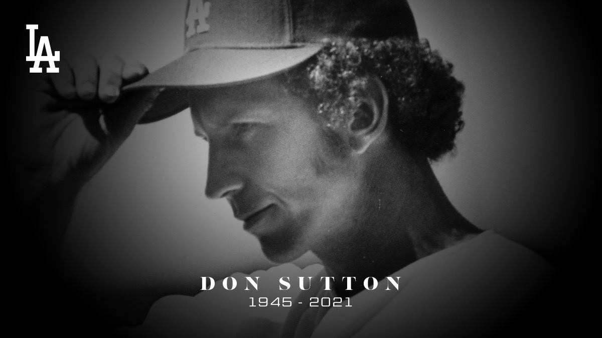 The Los Angeles Dodgers mourn the passing of Hall of Famer and Dodger all-time great Don Sutton. Our thoughts are with his family and friends at this difficult time.