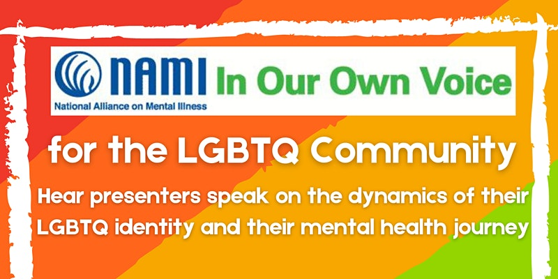 TIME CHANGE! The NAMI In Our Own Voice for LGBTQ Community is happening on February 17th, from 7-8:30pm. Mark your calendars and click the link to register: https://t.co/uyAbGKz6PF