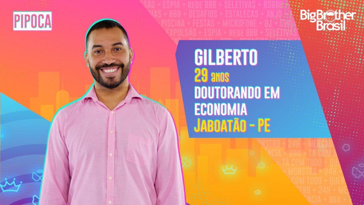 #BBB21 Doutorando em Economia, #GILBERTO chegou para integrar a ala da #pipoca. O que achou?