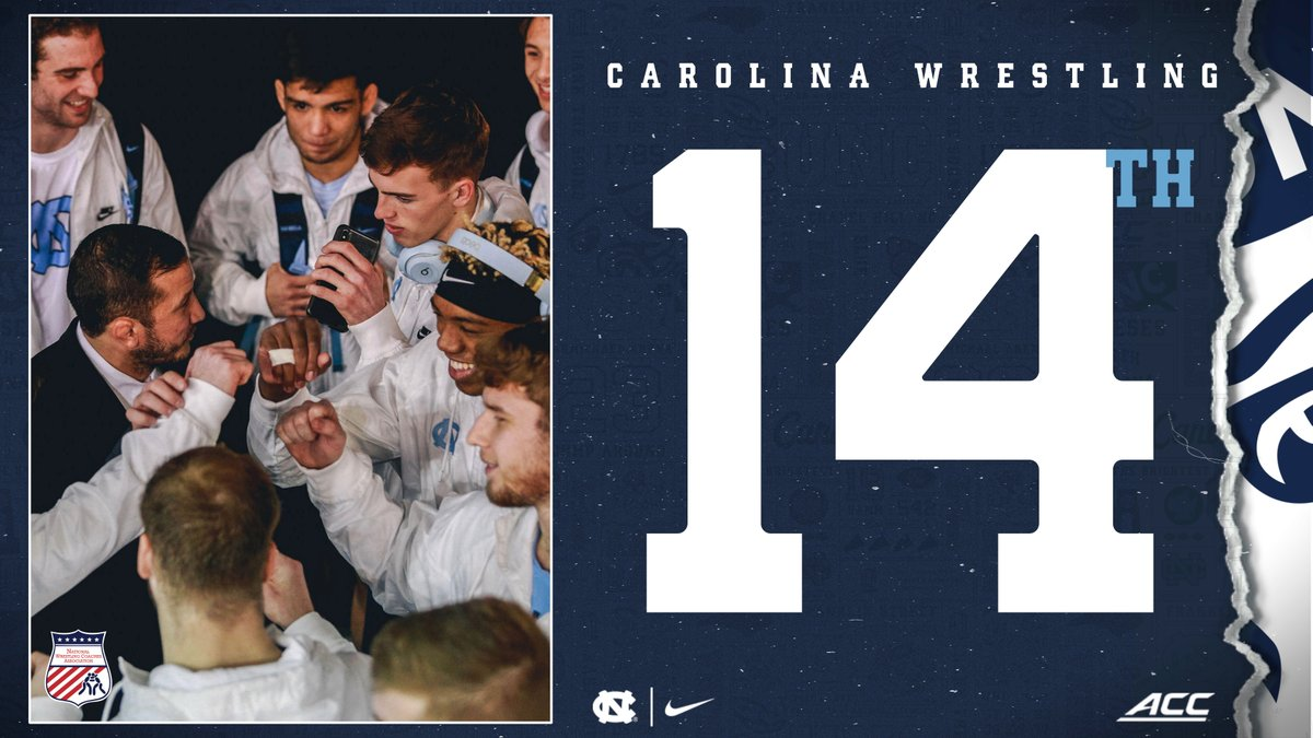 Checking in at No. 14 in the NWCA poll this week.  #GoHeels | #WeWantMore