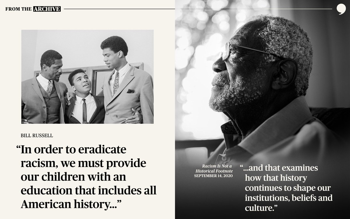 """.@RealBillRussell: """"Education is one of the most powerful tools we have in the fight against racism because it is foundational in the formation of an entire generation's beliefs."""" #TPTArchive"""