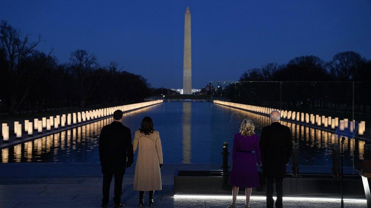 """In the midst of darkness, light persists."" - Gandhi  #BidenHarrisInauguration"